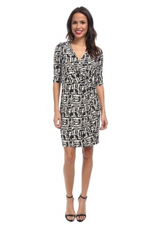 Laundry by Shelli Segal Block Party Faux Wrap Dress