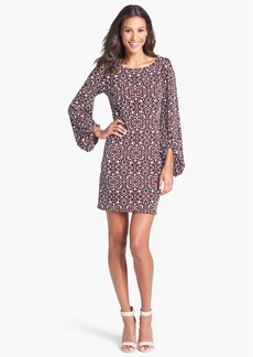 Laundry by Shelli Segal Blouson Sleeve Print Jersey Dress (Regular & Petite)