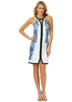 Laundry by Shelli Segal Border Print A-Line Dress
