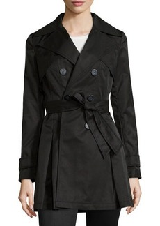 Laundry by Shelli Segal Box-Pleated Belted Trenchcoat