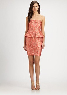 Laundry by Shelli Segal Brocade Peplum Dress