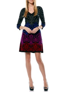 Laundry by Shelli Segal Brocade Sweater A-Line Dress