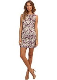 Laundry by Shelli Segal Button Back Brocade Dress