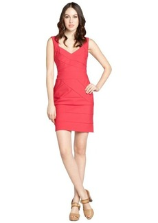 Laundry by Shelli Segal candy pink banded sleeveless travel dress