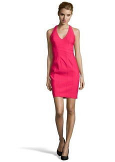 Laundry by Shelli Segal candy pink sleeveless vneck banded travel dress
