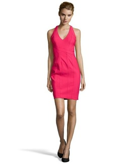 Laundry by Shelli Segal candy pink stretch banded racerback dress