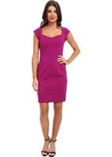Laundry by Shelli Segal Cap Sleeve Dress w/ Strapping At Neck