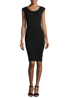 Laundry by Shelli Segal Cap-Sleeve Jersey Dress with Cutout