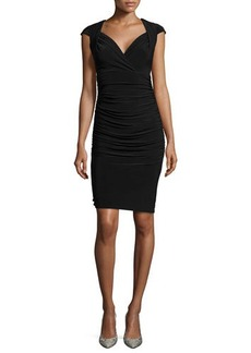 Laundry by Shelli Segal Cap-Sleeve Matte Jersey Cocktail Dress