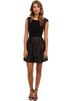 Laundry by Shelli Segal Cap Sleeve Matte Jersey Sequin
