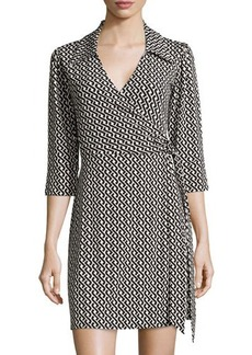 Laundry by Shelli Segal Celtic Braid 3/4-Sleeve Wrap Dress
