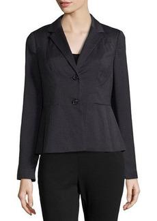 Laundry by Shelli Segal Check-Print Peplum Blazer Jacket