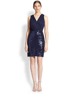 Laundry by Shelli Segal Chiffon & Sequin Dress