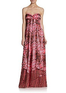 Laundry by Shelli Segal Chiffon Cobra-Print Gown