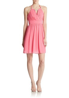 LAUNDRY BY SHELLI SEGAL Chiffon Halter Dress