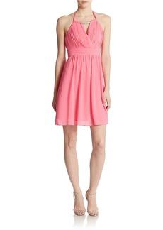 LAUNDRY BY SHELLI SEGAL Chiffon Halter Dress