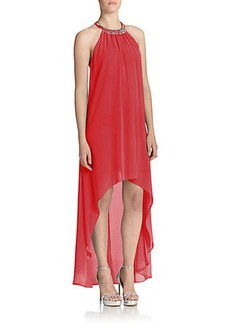 Laundry by Shelli Segal Chiffon Halter Gown