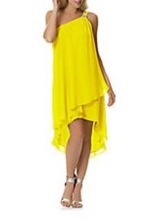 LAUNDRY BY SHELLI SEGAL Chiffon One-Shoulder Dress