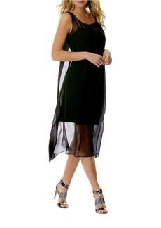 LAUNDRY BY SHELLI SEGAL Chiffon Overlay Cutout Dress
