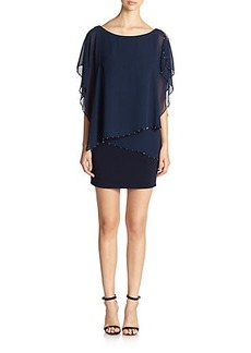Laundry by Shelli Segal Chiffon Overlay Dress