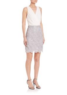 Laundry by Shelli Segal Chiffon Top Sequin Skirt Dress