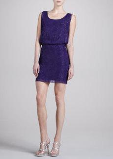 Laundry by Shelli Segal Clipped Swirls Chiffon Dress