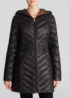 Laundry by Shelli Segal Coat - Chevron Lightweight Packable