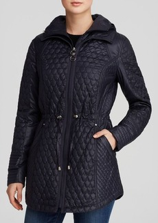 Laundry by Shelli Segal Coat - Mermaid Quilted Zip Bib