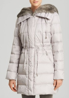 Laundry by Shelli Segal Coat - Petal Puffer Faux Fur Collar