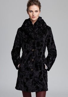 Laundry by Shelli Segal Coat - Reversible Faux Fur