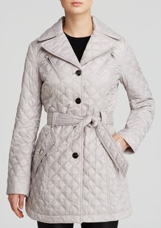 Laundry by Shelli Segal Coat - Single-Breasted Quilted Trench