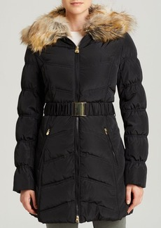 Laundry by Shelli Segal Coat - Windbreaker with Faux Fur Collar