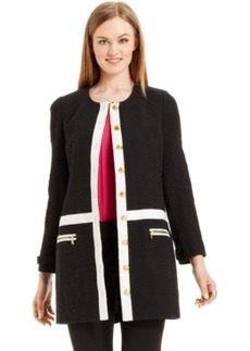Laundry by Shelli Segal Colorblocked Textured Jacket