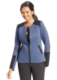 Laundry by Shelli Segal Colorblocked Zip-Front Jacket