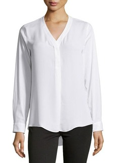 Laundry by Shelli Segal Contrast-Front V-Neck Blouse