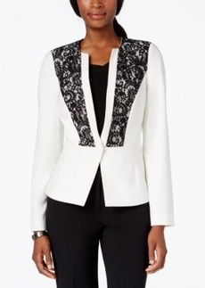 Laundry by Shelli Segal Contrast Lace-Panel Jacket