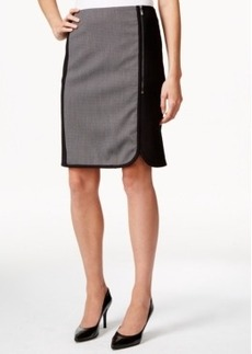 Laundry by Shelli Segal Contrast-Panel Pencil Skirt