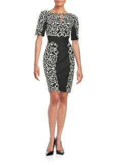 LAUNDRY BY SHELLI SEGAL Contrast Placement Print Ponte Dress