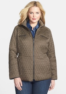 Laundry by Shelli Segal Contrast Trim Quilted Jacket