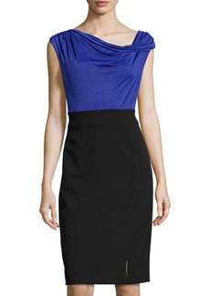 Laundry by Shelli Segal Cowl-Neck Colorblock Combo Dress