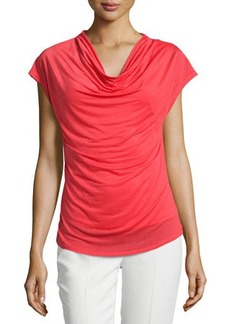 Laundry by Shelli Segal Cowl-Neck Curved-Hem Top