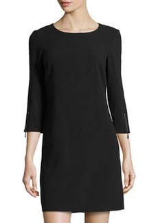 Laundry by Shelli Segal Crepe Zip-Cuff Dress, Black