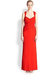 Laundry by Shelli Segal Crisscross-Bodice Gown