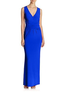 Laundry by Shelli Segal Crisscross Jersey Gown