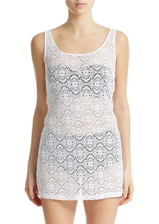 LAUNDRY BY SHELLI SEGAL Crochet Tank Cover-Up