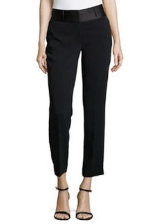 Laundry by Shelli Segal Cropped-Ankle Tuxedo Pants, Black