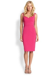 Laundry by Shelli Segal Cross-Front Sheath