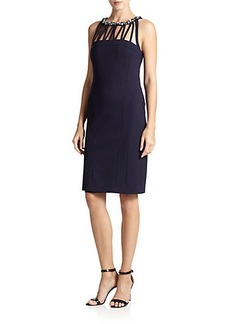 Laundry by Shelli Segal Cut-Out Knit Sheath