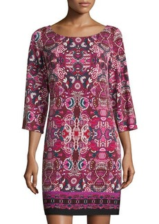 Laundry by Shelli Segal Cutout-Back Printed Jersey Dress