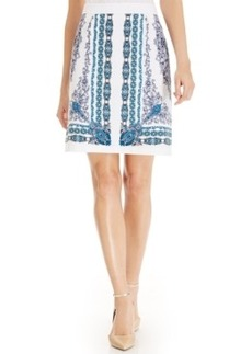 Laundry by Shelli Segal Damask-Print Pencil Skirt